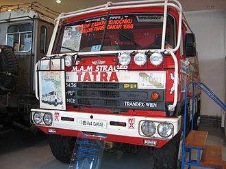 Karel Loprais - Tatra 815 4x4 - The 1988 rallye winner in the Koprivnice Technical Museum