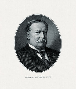 BEP engraved portrait of Taft as President.