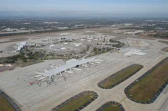 Tampa International Airport - Aerial view of the airport in 2004
