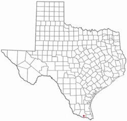 Location of Donna, Texas