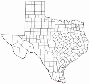 Donna, Texas - Image: TX Map doton Donna