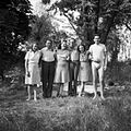 Tableau, fun, men, women, summer Fortepan 25655.jpg