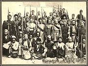 Constitutionalists of Tabriz The two men in the center are Sattar Khan & Bagher Khan