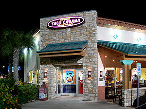 Taco Cabana restaurant in Dallas, Texas