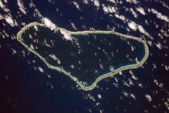 Taenga - NASA picture of Taenga Atoll