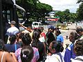 Tahitians getting on the bus to Little Tahiti - panoramio.jpg