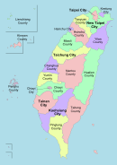 Location map of Taiwan