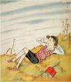TakehisaYumeji-1928-When the sky looks high.png