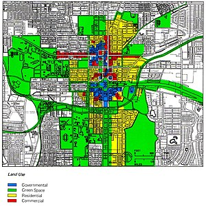 Zoning - Zoning scheme of the center of Tallahassee, United States.