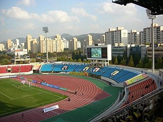 Tancheon Sports Complex - South Stand before canopy installation