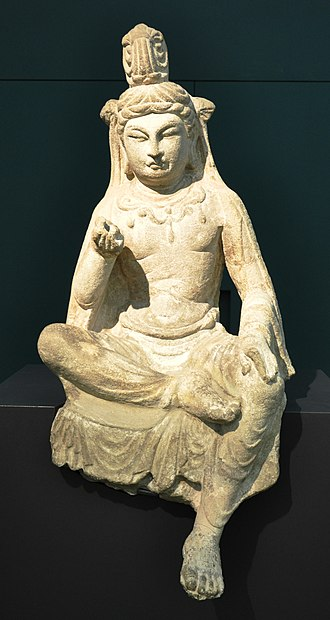 Taiyuan - A sitting bodhisattva statue originally from Tianlongshan Grottoes, currently in Museum Rietberg, Zürich