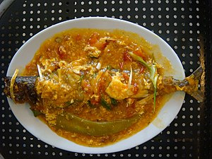 Escabeche - Escabeche of Spanish mackerel (narrow-barred Spanish mackerel)