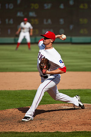 Tanner Scheppers - Scheppers pitching for the Rangers