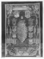 Tapet som visar kardinalshatt med anvapen, Krakow 1645 - Skoklosters slott - 266-negative.tif