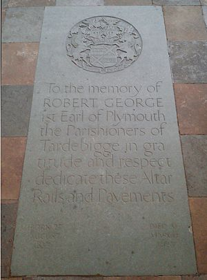 Robert Windsor-Clive, 1st Earl of Plymouth - Memorial to the 1st Earl of Plymouth at St Bartholomew's church, Tardebigge
