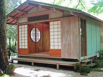 John P. Humes Japanese Stroll Garden - Tea house at the John P. Humes Japanese Stroll Garden