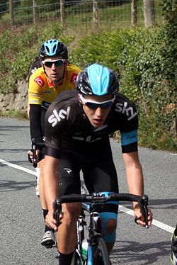 Team Sky Tour of Britain 2013 Moretonhampstead Wiggins.JPG