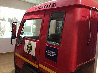 Driving simulator - Image: Teckno Sim Bus simulator
