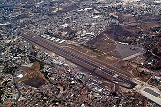 Toncontín International Airport - Image: Tegucigalpa Airport overview OJEV