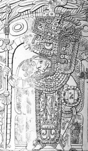 Yik'in Chan K'awiil - Image: Temple III Lintel Maudslay