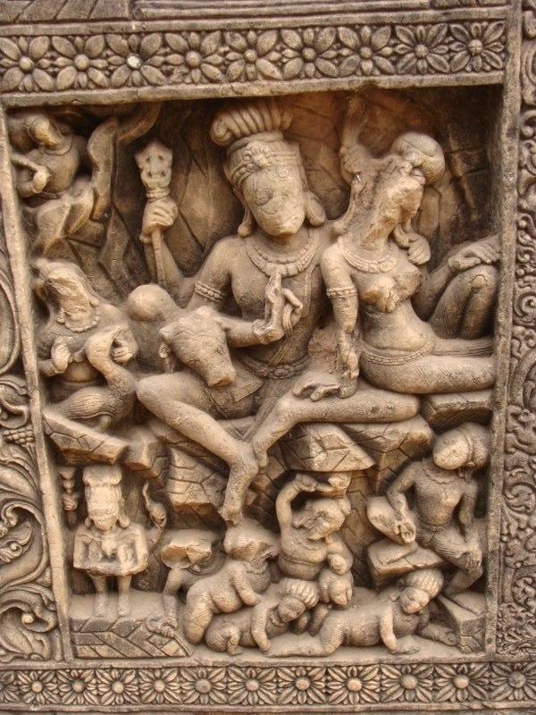 Temple Carvings in Malhar Bilaspur Chhattisgarh 2009