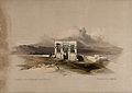 Temple of Isis on the roof of the temple at Dendera, Egypt. Wellcome V0049344.jpg