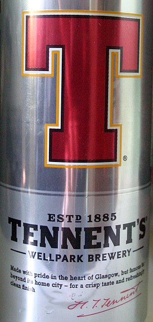 Wellpark Brewery - A can of Tennent's 4% abv lager