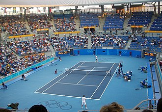 Tennis at the 2004 Summer Olympics - Andy Roddick vs. Tommy Haas. 4-6, 6-3, 9-7 in 2nd round