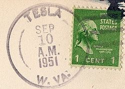 Tesla West Virginia Postmark