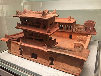 Second Chinese domination of Vietnam - Han style funerary house model found in Bỉm Sơn, Thanh Hóa. 1st-3rd century AD