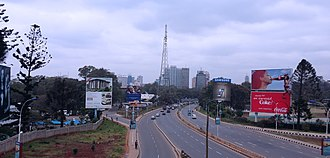 Nairobi–Malaba Road - A104 heading towards Nairobi Central Business District