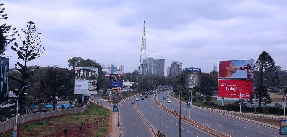The A104 heading to Nairobi CBD