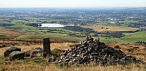Littleborough, Greater Manchester - A view towards Littleborough and Rochdale from Blackstone Edge.