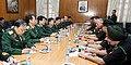 The Chief of Army Staff, General Bipin Rawat in a meeting with the Chief of General Department of Political Affairs, Vietnam People's Army, Senior Lt. Gen. Luong Cuong, in New Delhi on November 14, 2017.jpg