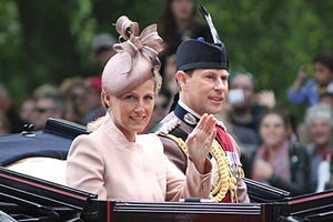 Prince Edward, Earl of Wessex - The Earl and Countess of Wessex at Trooping the Colour in June 2013