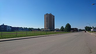 Hay River, Northwest Territories - The High Rise dominates the skyline