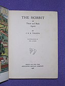 The Hobbit - title page of first American print