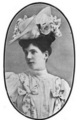 The Illustrated Milliner, Volume 7, Issue 7, July 1906 - Ribbon trimmed hat.png