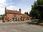 The Intersection at the Red Lion. The square contains mostly residential and farmland area (with two pubs). This one, the Red Lion is at the intersection of Darby and Yattendon Lanes seen in the photo, on the road from Pangbourne.
