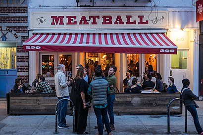 How to get to The Meatball Shop with public transit - About the place