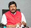 The Minister of State for Social Justice & Empowerment, Shri Ramdas Athawale addressing a press conference, in New Delhi on November 24, 2017.jpg
