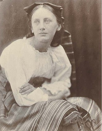 Prinsep - 'May' Prinsep, daughter of Charles Robert Prinsep. Photographed by Julia Margaret Cameron, 1866.