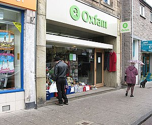 English: The Oxfam shop in Galashiels After 36...
