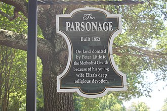 History of Natchez, Mississippi - The Parsonage was constructed by Peter Little in honor of his wife, Eliza, a dedicated Methodist.