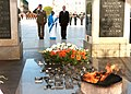 The President, Smt. Pratibha Devisingh Patil laid wreath at Tomb of Unknown Soldier, at Warsaw, Poland on April 24, 2009.jpg