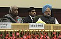 The Prime Minister, Dr. Manmohan Singh and the Union Minister for Labour and Employment, Shri Mallikarjun Kharge, at the 44th session of Indian Labour Conference, in New Delhi on February 14, 2012.jpg