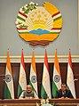The Prime Minister, Shri Narendra Modi at the Joint Press Briefing with the President of Tajikistan, Mr. Emomali Rahmon, at Qasr-e-Millat, in Dushanbe, Tajikistan on July 13, 2015.jpg
