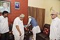 The Prime Minister, Shri Narendra Modi met Shri Keshubhai Patel at his residence and offered his condolences on the unfortunate demise of his son, Pravin Patel, in Gandhinagar, Gujarat on September 14, 2017.jpg