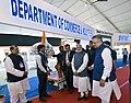 The Prime Minister, Shri Narendra Modi visiting the Make in India Theme Exhibition, at Naya Raipur, Chhattisgarh on November 01, 2016. The Chief Minister of Chhattisgarh, Dr. Raman Singh is also seen.jpg