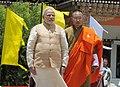 The Prime Minister, Shri Narendra Modi with the Prime Minister of Bhutan, Mr. Lyonchhen Tshering Tobgay, during the ceremonial reception, at Paro International Airport, in Bhutan on June 15, 2014.jpg